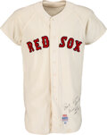 Baseball Collectibles:Uniforms, 1972 Rico Petrocelli Game Worn & Signed Boston Red Sox Jersey....