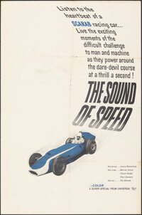 """The Sound of Speed (Universal, 1962). Folded, Fine/Very Fine. One Sheet (27"""" X 41""""). Documentary"""