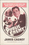 """Movie Posters:Crime, The Public Enemy (Warner Bros., R-1954). Folded, Fine/Very Fine. One Sheet (27"""" X 41""""). Crime.. ..."""