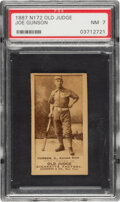 Baseball Cards:Singles (Pre-1930), 1887-90 N172 Old Judge Joe Gunson (#205-1) PSA NM 7 - Highest Grade for Player! ...