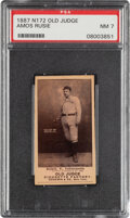 Baseball Cards:Singles (Pre-1930), 1887-90 N172 Old Judge Amos Rusie (#395-2) PSA NM 7 - The Highest Graded Rusie in a PSA Holder! ...