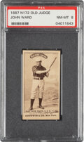 Baseball Cards:Singles (Pre-1930), 1887-90 N172 Old Judge John Ward (#478-6) PSA NM-MT 8 - Pop Two, None Higher. ...