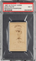 Baseball Cards:Singles (Pre-1930), 1887-90 N172 Old Judge Dave Foutz (#170-1 Brown's Champions) PSA NM 7 - Pop One, One Higher. ...