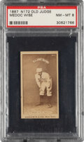 "Baseball Cards:Singles (Pre-1930), 1887-90 N172 Old Judge Sam ""Medoc"" Wise (#506-1 Boston) PSA NM-MT 8 - The Finest of Only Four PSA Examples. ..."