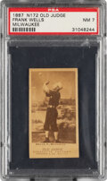 Baseball Cards:Singles (Pre-1930), 1887-90 N172 Old Judge Frank Wells (#488-1) PSA NM 7 - Only Five PSA-Graded Examples! ...