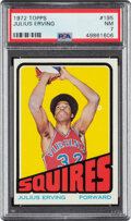 Basketball Cards:Singles (1970-1979), 1972 Topps Julius Erving #195 PSA NM 7. ...