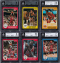 Basketball Cards:Sets, 1984-85 Star Company Basketball Complete Set (288) With #101 Michael Jordan BGS NM-MT 8. ...