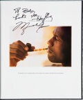 """Basketball Collectibles:Publications, 1993 """"Rare Air Special Edition"""" Inscribed & Signed by Michael Jordan and Book Launch Invitation from The Robert C. Scarpetti C..."""