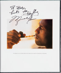 "1993 ""Rare Air Special Edition"" Inscribed & Signed by Michael Jordan and Book Launch Invitation from The R..."