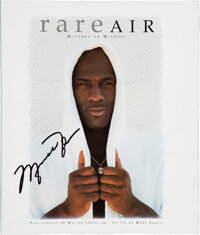 "1993 ""Rare Air"" Book Signed by Michael Jordan & Book Launch Invitation from The Robert C. Scarpetti Collec..."