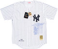 Baseball Collectibles:Uniforms, Circa 2000 Don Larsen Signed New York Yankees Jersey with Perfect Game Notations....