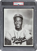 Baseball Collectibles:Photos, Circa 1951 Jackie Robinson Original Photograph Used for 1953 Topps Card by Barney Stein, PSA/DNA Type 1....