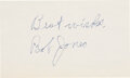 Golf Collectibles:Autographs, 1960's Bobby Jones Signed Index Card. ...