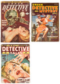 Pulps:Detective, Assorted Detective Pulps Group of 3 (Various, 1948-56).... (Total: 3 Items)