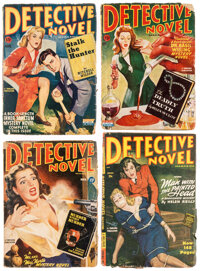 Detective Novel Group of 5 (Thrilling Publications, 1944-49) Condition: Average GD/VG.... (Total: 5 Items)