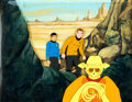 "Animation Art:Production Cel, Star Trek: The Animated Series ""Albatross"" Kirk, Spock and Dramen Production Cel Setup and K..."