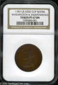 Colonials: , 1783 Washington & Independence Cent, Draped Bust, Copper ...