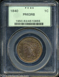 Proof Large Cents: , 1840 PR 63 Red and Brown PCGS. ...