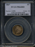 Proof Indian Cents: , 1867 PR 64 Red PCGS. ...