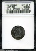 Early Dimes: , 1807 AG3 ANACS. ...