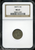 Seated Dimes: , 1869-S MS63 NGC. The current Coin Dealer Newsletter (...