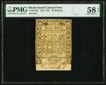 Colonial Notes:Rhode Island, Rhode Island May 1786 20 Shillings Fr. RI-298 PMG Choice About Uncirculated 58 EPQ.. ...