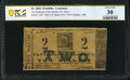 Obsoletes By State:Louisiana, Franklin, LA- Treasurer of the Parish of St. Mary $2 1862 PCGS Banknote Very Fine 30.. ...