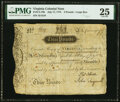 Colonial Notes:Virginia, Virginia July 17, 1775 3 Pounds Ashby Note Fr. VA-79b PMG Very Fine 25.. ...