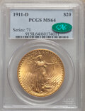 Saint-Gaudens Double Eagles: , 1911-D $20 MS64 PCGS. CAC. PCGS Population: (4052/3022). NGC Census: (3896/2782). CDN: $2,020 Whsle. Bid for NGC/PCGS MS64....