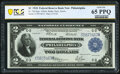 Large Size:Federal Reserve Bank Notes, Fr. 756 $2 1918 Federal Reserve Bank Note PCGS Banknote Gem Unc 65 PPQ.. ...
