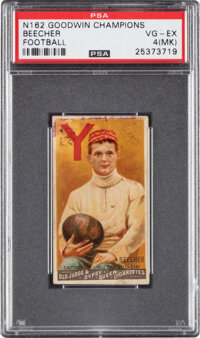 "1888 N162 Goodwin ""Champions"" Beecher PSA VG-EX 4 (MK) - The First Football Card!"