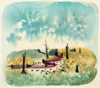 Mary Blair Song of the South Farm Concept/Color Key Painting (Walt Disney, 1946)
