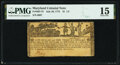 Colonial Notes:Maryland, Maryland July 26, 1775 $1 1/3 PMG Choice Fine 15.. ...