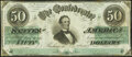 Confederate Notes:1862 Issues, T50 $50 1862 PF-11 Cr. 357 Fine-Very Fine.. ...