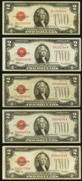 Small Size:Legal Tender Notes, Fr. 1504 $2 1928C Legal Tender Note. Fine;. Fr. 1504 $2 1928C Mule Legal Tender Note. C-A Block. Back Plate 289. Very Fine... (Total: 5 items)