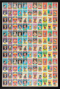 1985 Topps Garbage Pail Kids Series 1 Uncut Sheet With 132 Stickers