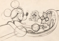 The Mail Pilot Mickey Mouse Layout Drawing (Walt Disney, 1933)