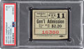 Football Collectibles:Tickets, 1938 NFL Championship Game Giants vs. Packers Ticket Stub PSA VG 3- Highest Graded!...