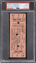 Football Collectibles:Tickets, 1945 NFL Championship Game Rams Vs. Redskins Full Ticket, PSA Authentic. ...