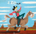 Animation Art:Concept Art, Mary Blair Melody Time Pecos Bill Concept/Color Key Painting (Walt Disney, 1948)....