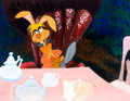 Animation Art:Production Drawing, Alice in Wonderland March Hare at the Tea Party Story Book Illustration (Walt Disney, c. 1960s-70s). ...