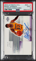 Basketball Cards:Singles (1980-Now), 2003 Ultimate Collection Ultimate Signatures Magic Johnson Autograph #MA-A PSA Mint 9....