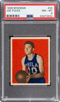 Basketball Cards:Singles (Pre-1970), 1948 Bowman Joe Fulks #34 PSA NM-MT 8. ...