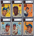 Baseball Cards:Lots, 1954 Topps Baseball Collection (94) With Aaron. ...