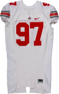 Football Collectibles:Uniforms, Circa 2010 Cameron Heyward Game Worn & Signed Ohio State Jersey....
