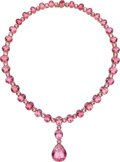 Estate Jewelry:Necklaces, Tourmaline, Rose Gold Necklace. ...