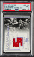 Basketball Cards:Singles (1980-Now), 2003 UD Glass Superlative Swatches Kobe Bryant Jersey Card #SS-KB PSA Mint 9....