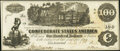 Confederate Notes:1862 Issues, T39 $100 1862 PF-5 Cr. 290 Choice About Uncirculated.. ...