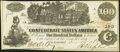 Confederate Notes:1862 Issues, T39 $100 1862 PF-5 Cr. 290 Extremely Fine-About Uncirculated.. ...