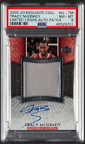 Basketball Cards:Singles (1980-Now), 2005 UD Exquisite Collection Limited Logos Tracy McGrady Autograph Patch #LL-TM PSA NM-MT 8 - Serial Numbered 37/50....